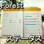 【The Forest】ステータス表記について