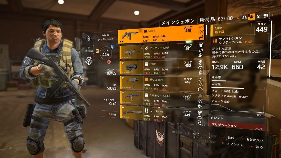 division-2-weapon-list