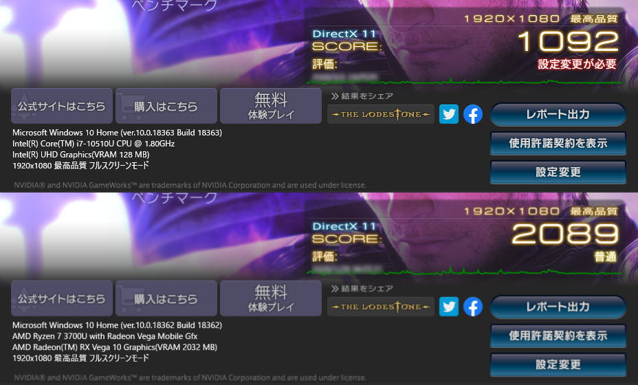 core-i7-10510u-ryzen-7-3700u-ff14-benchmark