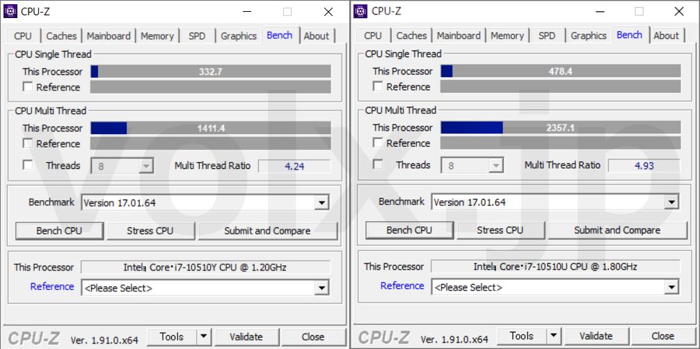 core-i7-10510y-core-i7-10510u-cpu-z-benchmark
