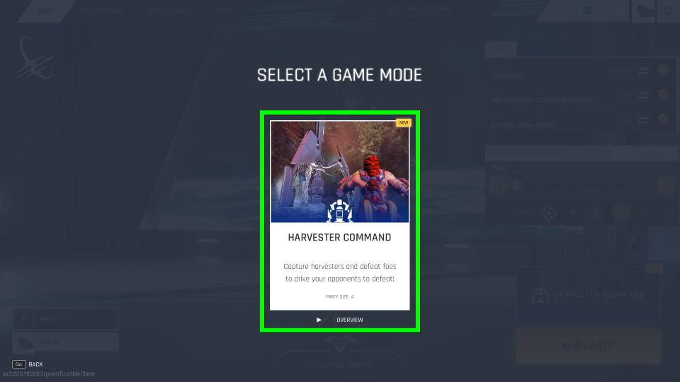 crucible-arvester-command-start-3