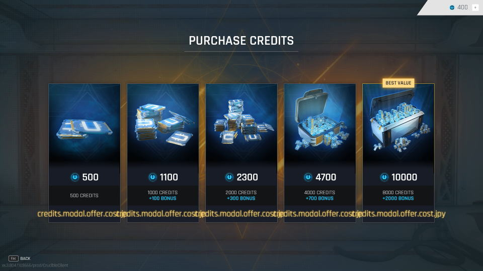 crucible-credit-cost-list