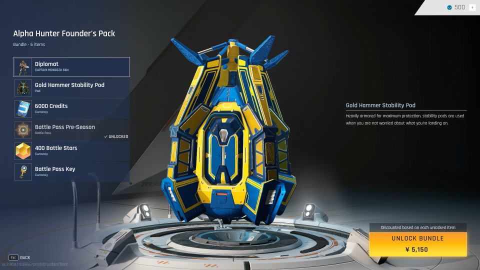 crucible-skin-gold-hammer-stability-pod