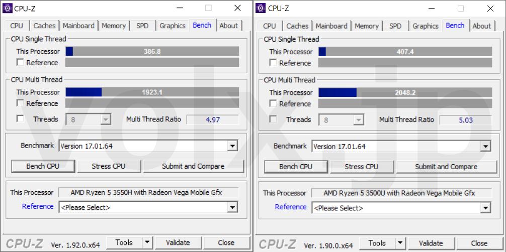 ryzen-5-3550h-vs-ryzen-5-3500u-cpu-z-benchmark