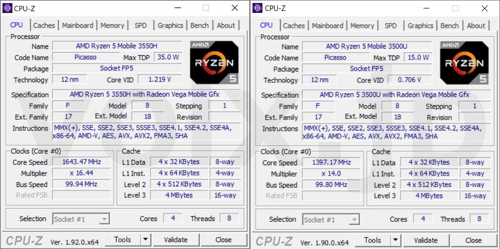 ryzen-5-3550h-vs-ryzen-5-3500u-cpu-z-info