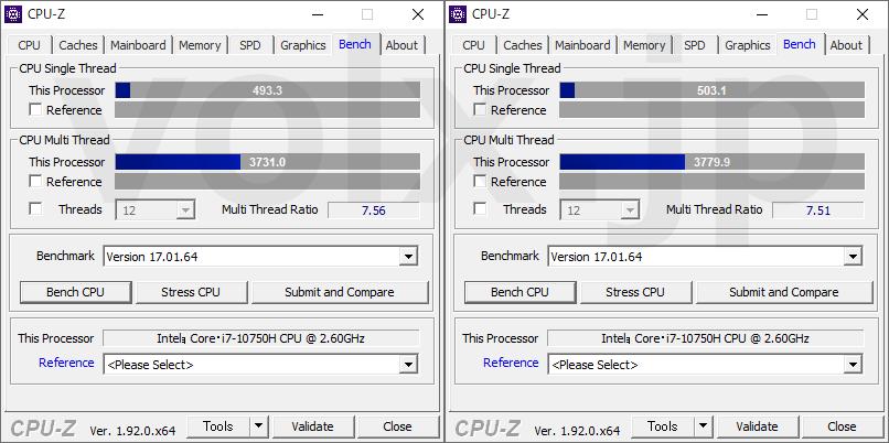rtx-2060-gtx-1650-max-q-cpu-z-benchmark