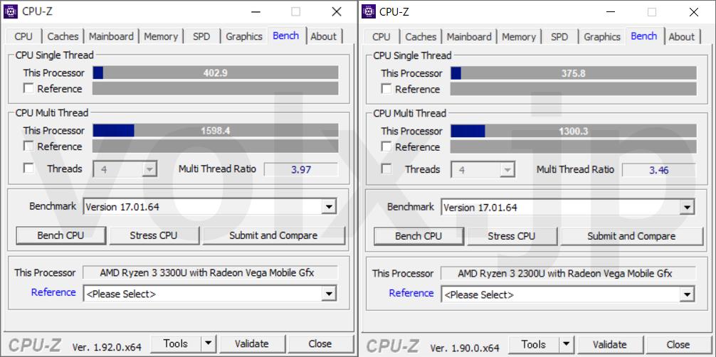 ryzen-3-3300u-ryzen-3-2300u-cpu-z-benchmark