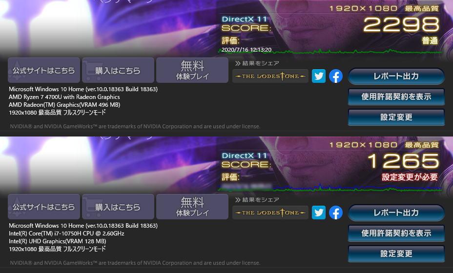 ryzen-7-4700u-core-i7-10750h-ff14-benchmark