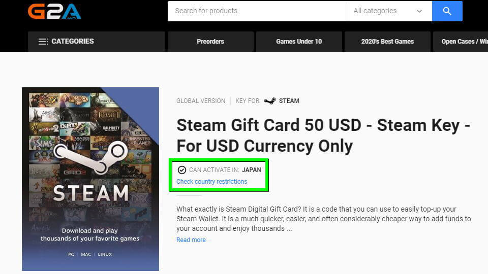 g2a-steam-gift-card-activation
