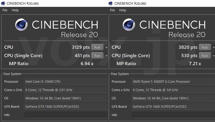 core-i5-10400-ryzen-5-3600xt-cinebench