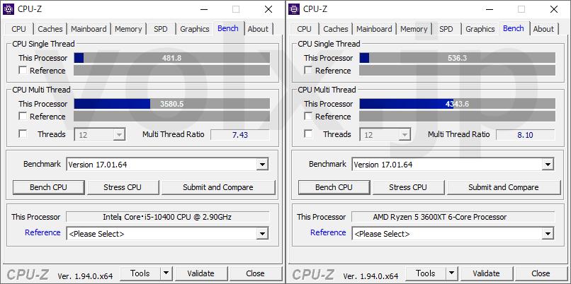 core-i5-10400-ryzen-5-3600xt-cpu-z-benchmark
