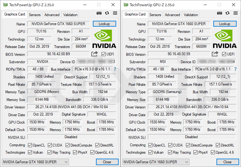 core-i5-10400-ryzen-5-3600xt-gpu-z