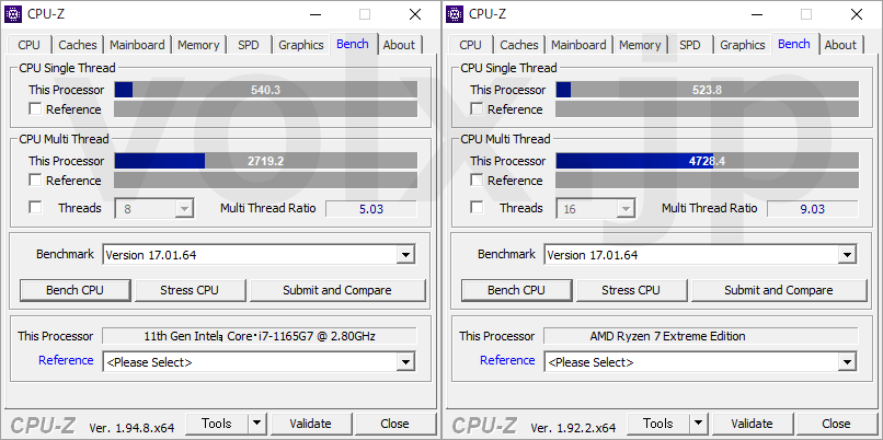 core-i7-1165g7-ryzen-7-extreme-edition-cpu-z-benchmark