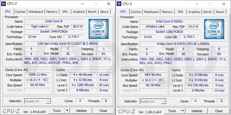 core-i5-1135g7-core-i5-8265u-cpu-z-info