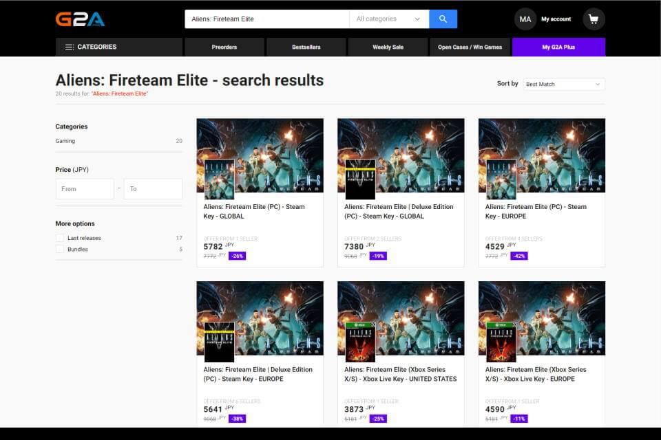 aliens-fireteam-elite-price-check