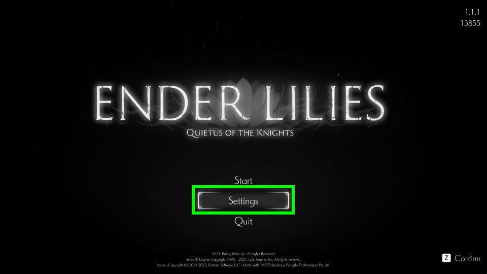 ender-lilies-quietus-of-the-knights-main-menu