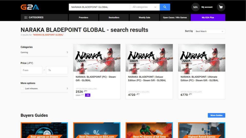 naraka-bladepoint-price-check