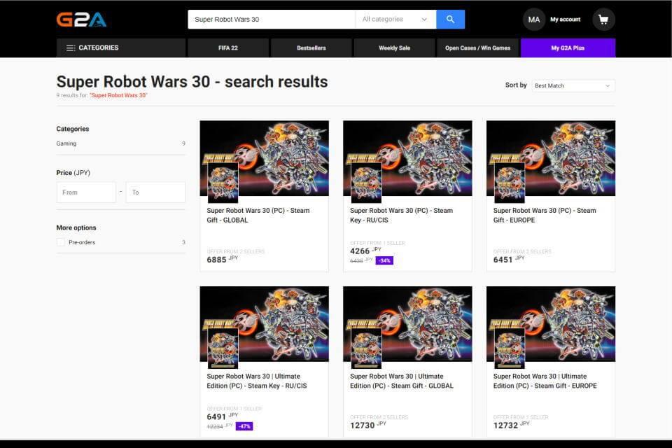 super-robot-wars-30-price-check